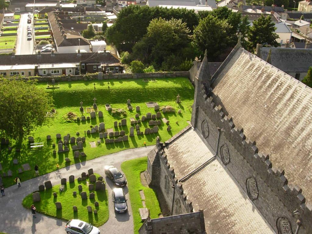 vista dalla round tower st canice kilkenny